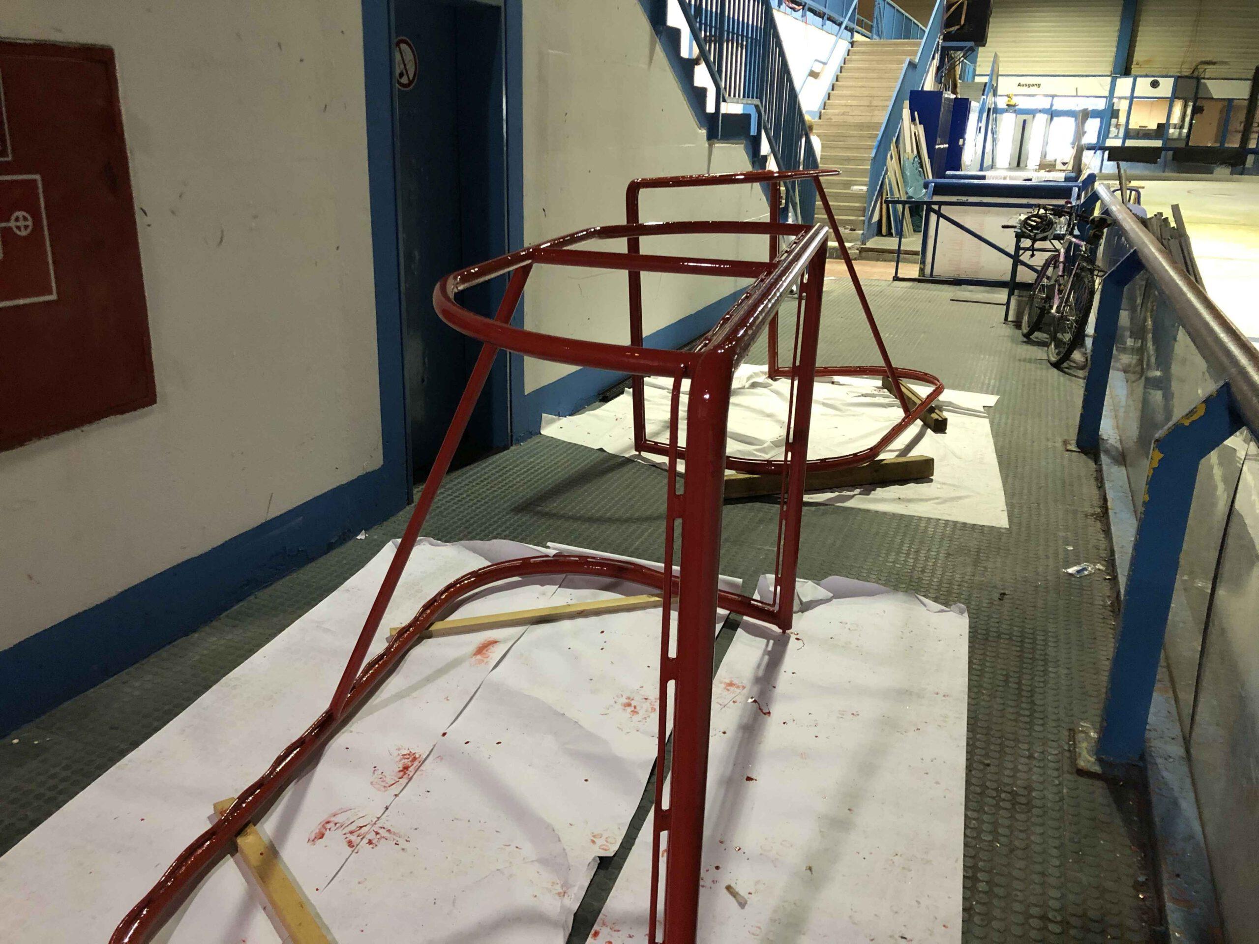 Renovierung der Eishockeytore Sommer 2020